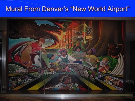 Denver international airport murals meaning 28 images for Definition of mural