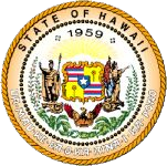 The Hawaii state seal.